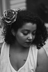 Anna (TheJennire) Tags: photography fotografia foto photo canon camera camara colours colores cores light luz young tumblr indie teen people portrait makeup flowers curlyhair 50mm naturallight blackandwhite calm poetic