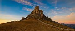 Steps to Giau ([v] style + imagery) Tags: italy dolomites dolomiti dolomiten italian mountain mountains cortina alpine sunset sunsetting cloudsstormssunsetssunrises hiking landscape vividcolour