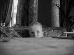 Bon Appetit :) (vazek2007) Tags: baby kids children restaurant dinner emotions holydays blackandwhitephoto bnwphoto bnw olympus zuiko microfourthirds monochrome