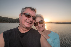 Lake Nacimiento Sunset (jimsheaffer) Tags: lakenacimiento sunset heritageranch heritageranchpasorobles flashphotography nikond750 nikkor1835mmf3545gedlens wideanglelens nikonwideangle centralcalifornia winecountry fullframe selfie