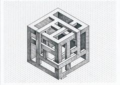 20170611_0013 (regolo54) Tags: impossible isometric geometry symmetry penrose oscareutersvärd escher hexagon handmade cube