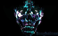 Trippy Face (Bongholmes) Tags: creepy face photoshop art creativity scary haunt dead haunted undead trippy neon retro