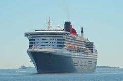 Queen Mary 2 (jelpics) Tags: cunardline cunardcruiselines oceanliner queenmary2 cruise cruiseships cruiseportboston blackfalconterminal rayflynncruiseport boat boston bostonharbor bostonma harbor massachusetts ocean port sea ship vessel