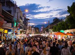 Chiang Mai Sunday Market (TeunJanssen) Tags: southeastasia asia travel traveling backpacking olympus omd omdem10 thailand chiangmai market crowd busy night nightmarket