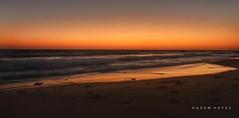 Before Sun Rise .. (Hazem Hafez) Tags: dawn beach early red sand shore coast sky light dark firstlight reflections waves