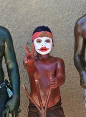 Red Boy Tilcajete Oaxaca Carnaval Mexico (Ilhuicamina) Tags: bodypainting mexico oaxacan fiestas zapotec carnaval tilcajete boys arms