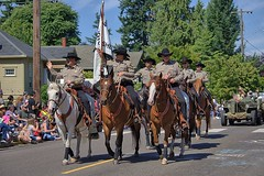 Sheriffs Riding In The Parade (swong95765) Tags: horses parade sheriffs mounted flag patriotic