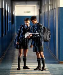 43 (cane4u) Tags: boy boys schoolboy schoolboys teenage teenager school uniform shorts socks tie blazer spanking headmaster discipline cp corporal punishment cane caning beating strap tawse paddle birch birching