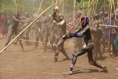 Tribal stickfighting in southern Ethiopia (martien van asseldonk) Tags: martienvanasseldonk ethiopia surma surmi omo river donga stickfighting