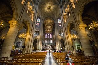 Notre Dame inside - Paris