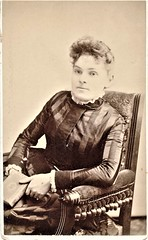 Seated Young Woman - cdv (snap-happy1) Tags: photography photographs cartes de visite photographers park co brantford ontario canada victorian women fashion cdv back stamp rochon