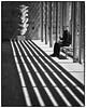 Life & Art (chalkie50) Tags: black white monochrome sculpture art leadin yorkshire park shadows man lines