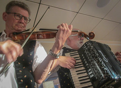 Duo (Robert Borden) Tags: music krems austria violin fiddle accordian festive