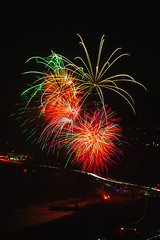 57 (morgan@morgangenser.com) Tags: pacificpalisaddes beach belairbayclub blue celebrate fireworks color iso100 july3rd loud nikon night ocean orange pch people red reflection special spectacular streaks timeexposire tripod yellow amazing