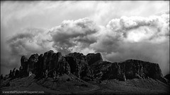 the superstitions (Dave (www.thePhotonWhisperer.com)) Tags: superstitiion mountain cloud phoenix thesuperstitions