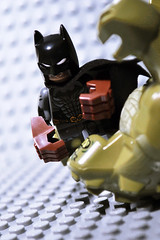 Batman Vs Kiler Croc : The bigger they are, the harder they fall ([ I ] RENNER) Tags: batman killercroc justiceleague villain minifigs minifigure superherominifigs brucewayne gotham superpunch