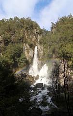 Tarawera Falls (Daniel Menzies) Tags: tarawerafalls tarawera kawerau waterfall newzealand landscape nature water falls trees plants canon80d canon1018mmf4556 rainbow refracted light shade mist river cliff rock rapids