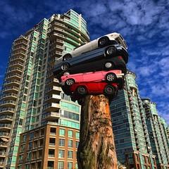 Pile Up (Pennan_Brae) Tags: roadrage pileup 604 vancouverbc yvr vancity vancouver publicart