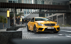 Solarbeam Yellow. (Alex Penfold) Tags: mercedes benz c63 black series solar beam yellow dubai uae 2017