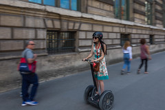 Girl on a Segway (scarlet-pimp) Tags: france ruederevoli louvemuseum travelphotography paris travel segway people electricvehicle vehicle museum streetphotography europe louve street îledefrance fr panning