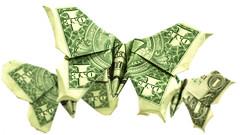 Dollar Butterflies (Samukami) Tags: origami dollar butterfly tutorial samkami samukami samsorigamidojo
