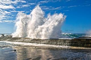 Ruge la mar embravecida. (The roaring sea roars).