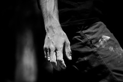 Hand (Luca Cambriglia) Tags: italy europe boy man guy climb climber climbing trekking hiking sport activity black white blackandwhite hand chalk light lights tones shadow shadows contrast detail details live life adventure explore nature strenght training outdoor photo photography nikon d750 tamron zoom full fullframe sensor beauty art see experience passion emotion work hard train relax chill friend neverstop observe attention mountain rock
