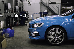Volvo Polestar Service Centre (simonpeeterss) Tags: rims blue bleu volvo volvocars sweden swedish racing race product carphotography photography productphotography commercial advertise advertisement lightq service car voiture auto tires electric color garage center belgium belgië