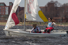 2017-04-16 Sailing at B.U. 013 (consolecadet) Tags: boston bostonuniversity cambridge charlesriver daily mollypleskus river sabrinavanmell sailing sports tufts watersports women womens