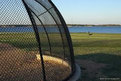 behind the backstop (pvh photo) Tags: backstop lake field supertakumar3535 dogwalker