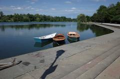 Testing new camera (Maria Sciandra) Tags: mariasciandraphotography rowboats lake buffalonewyork delawareparklake ricohgrii wwwmariasciandraphotography reflections trees blue