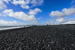 Black beach Iceland (nydavid1234) Tags: nikon d600 nydavid1234 iceland landscape vik blackbeach clouds wideangle water ocean northatlantic surf rocks pebbles bluesky stones