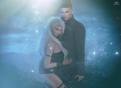 Stephan and Lulu~Magical Love... (Skip Staheli *FULLY BOOKED*) Tags: skipstaheli secondlife sl avatar couple love romantic lylaluresident virtualworld dreamy digitalpainting magical twinkle sparkle blue