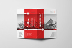 Swiss Style Bifold Brochure (Snowboy Design) Tags: bifold bifoldbrochure brochure business businessbrochure clean company corporate creative education helvetica indesign internationaltypographicstyle keyvisual modern modernism multipurpose museum neue print printready professional red school studio summit swiss swissstyle template