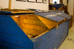 Igor museo, wooden flour box (visitsouthcoastfinland) Tags: visitsouthcoastfinland degerby igor museum museo finland suomi travel history indoor