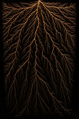Lichtenberg Figure (Paul's Lab) Tags: lichtenberg electricity fractal physics resin science synthetic dendrite dendrites dendritic pattern structure tree electric lightning