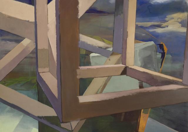 Landing ,150x180cm, Eggtempera,Oil/Pigment, 2016