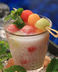 Summer Fun (Miel Photopgraphy) Tags: macrodessert sagomelon melonballs honeydew cantaloupe watermelon sagopearls tapiocapearls coconutmilk cooling tropical chinese dessert