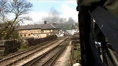 69621 departs Grosmont with a goods train during the NYMRly East Coast Main Line Gala, 28th April 2007. (Dave Wragg) Tags: 69621 classn lner preserved steam loco locomotive railway nymr grosmont