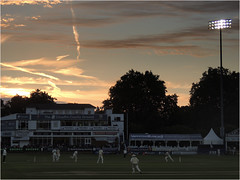 Day 177 History in the making (Dominic@Caterham) Tags: sky pavilion wicket players sunset middlesex chelmsford essex floodlit cricket spectators