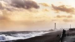 View to Shoreham (toddvic) Tags: shorehampowerstation sunset sea hove brighton seascape