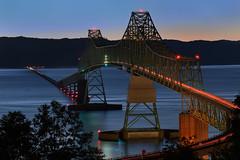 Astoria-Megler (Steve Gumina Photography) Tags: bridges astoriameglerbridge astoria oregon nightphotography bluehour longexposures streaminglights