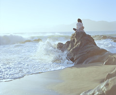 Facing the Waves (chrissomos) Tags: vacation sanfrancisco beach sun waves rock california