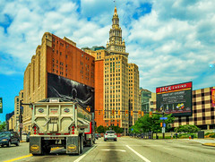 the_ride (gerhil) Tags: travel documentary cityscape landscape architecture buildings sky clouds road vehicles lifestyle traffic summer july2017 nikcolorefexpro4 cle