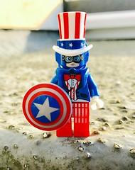 Fourth of July (Hammerstein NWC) Tags: fourthofjuly lego legominifig cap captainamerica steve rogers usa murica america steampunk avengers minifigure crazybricks spectrumisgreen wwwcrazybrickscom