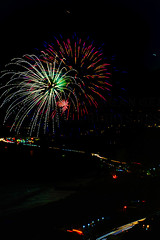 06 (morgan@morgangenser.com) Tags: pacificpalisaddes beach belairbayclub blue celebrate fireworks color iso100 july3rd loud nikon night ocean orange pch people red reflection special spectacular streaks timeexposire tripod yellow amazing