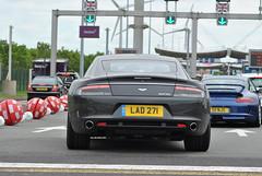 Aston Martin Rapide (D's Carspotting) Tags: aston martin rapide france coquelles calais grey 20140615 lad271 le mans 2014 lm14 lm2014