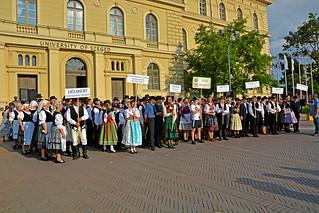 Groups of Folk Dancers
