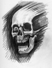 charnel apparition 6 sketch (ashley russell 676) Tags: charnel apparition ghost ghoul demonic entity possession illustration drawing pencil art macabre horror dark death evil spirit skull bones jaw black white monochromatic occult paranormal supernatural sketchbook poltergeist