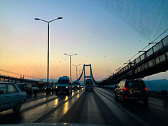 A New Day Is Dawning (Jonathan-Livingston) Tags: dawn güneş köprü bridge road cars trafik traffic morning sabah